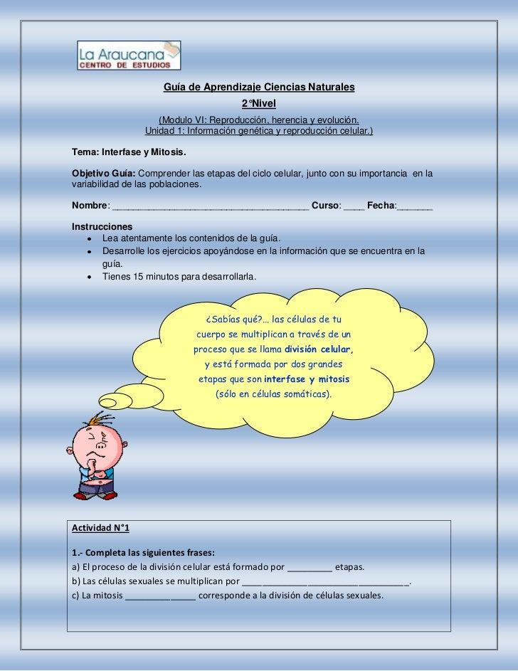 Guía de Aprendizaje Ciencias Naturales                                        2°Nivel                    (Modulo VI: Repro...