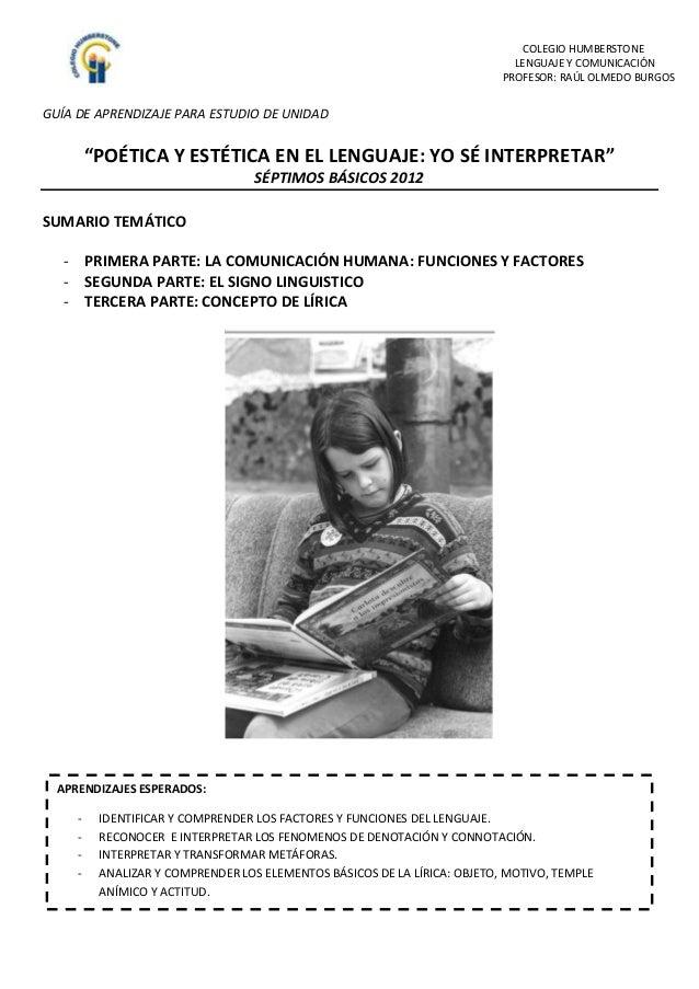 COLEGIO HUMBERSTONE                                                                             LENGUAJE Y COMUNICACIÓN   ...