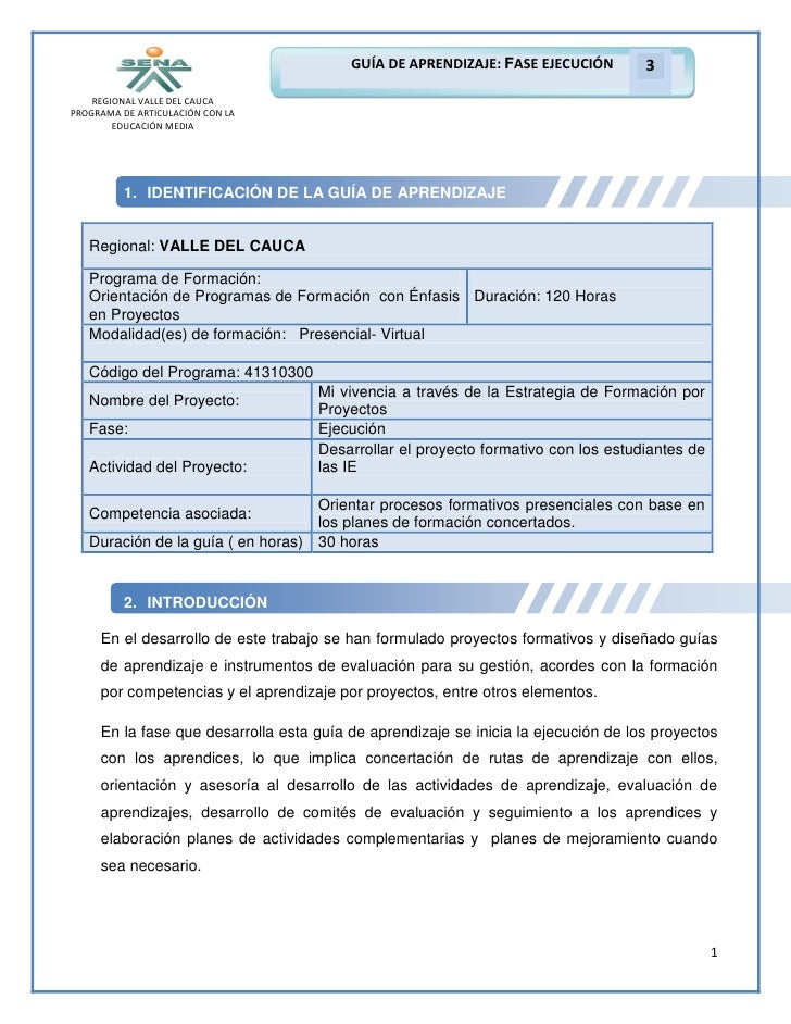 GUÍA DE APRENDIZAJE: FASE EJECUCIÓN        3    REGIONAL VALLE DEL CAUCAPROGRAMA DE ARTICULACIÓN CON LA        EDUCACIÓN M...