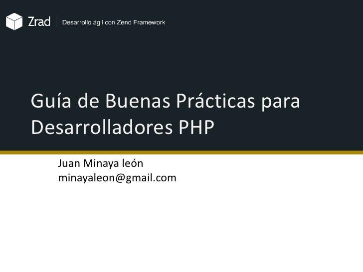 Guía de buenas prácticas para desarrolladores web