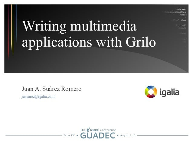 Writing multimedia applications with Grilo