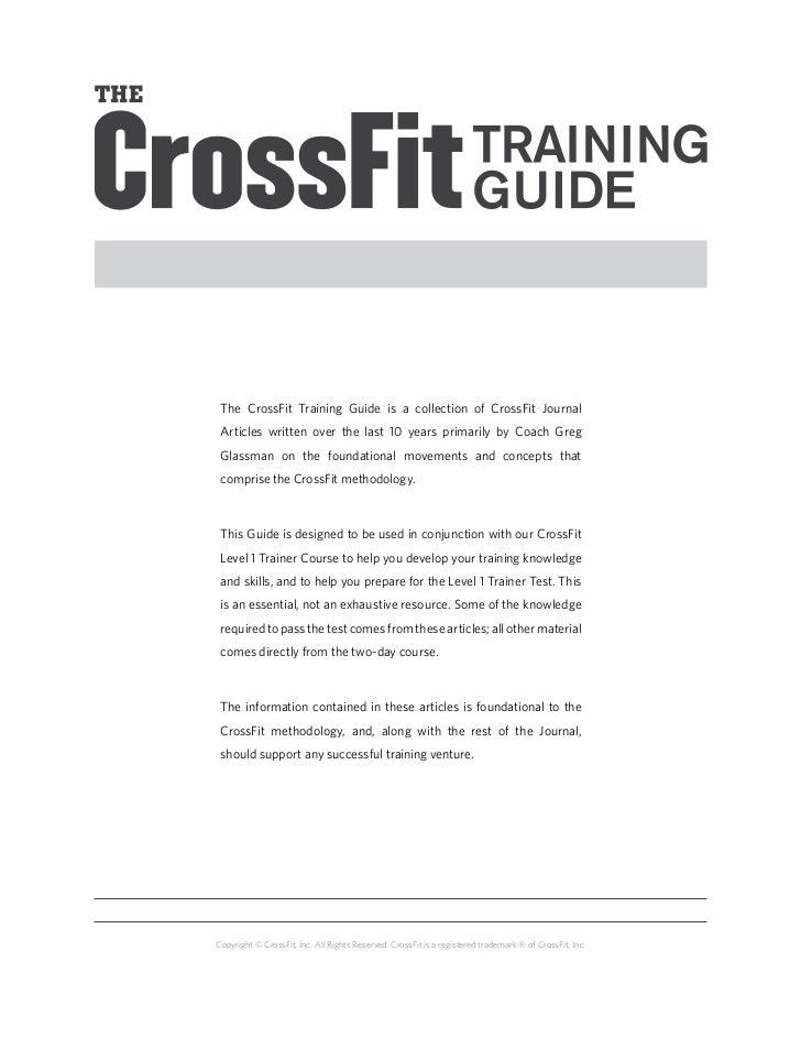Guía de entrenamiento nivel 1