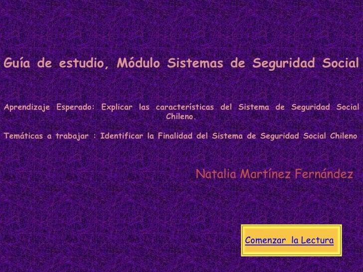 Sistemas de Seguridad Social en Chile