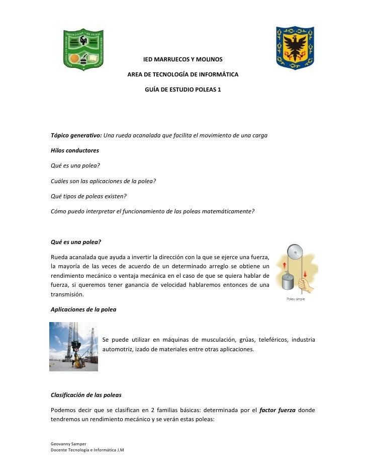 IED MARRUECOS Y MOLINOS                                       AREA DE TECNOLOGÍA DE INFORMÁTICA                           ...