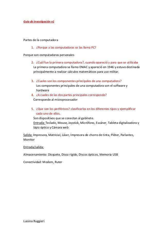 Guía de investigación n1 luisina2013