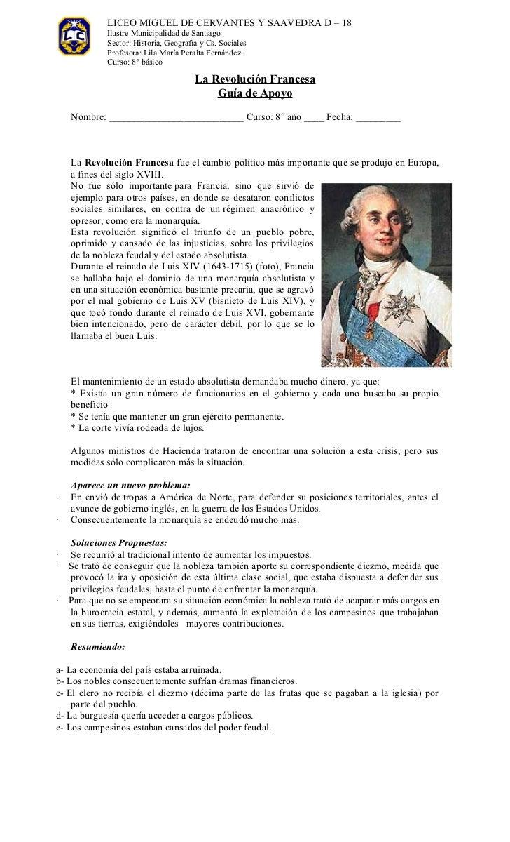 LICEO MIGUEL DE CERVANTES Y SAAVEDRA D – 18             Ilustre Municipalidad de Santiago             Sector: Historia, Ge...