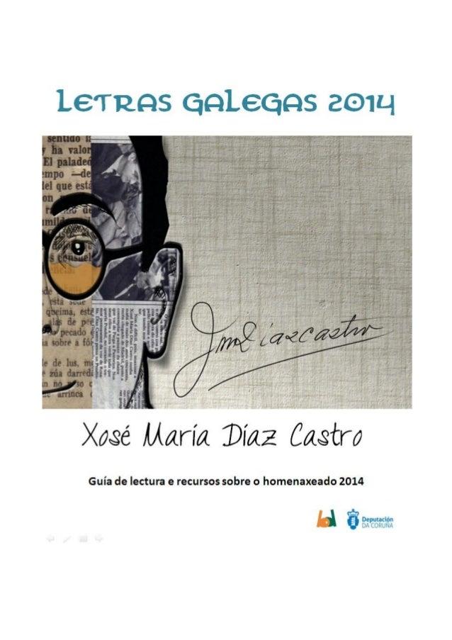 Guía de lectura. Letras Galegas 2014. Biblioteca Provincial da Coruña