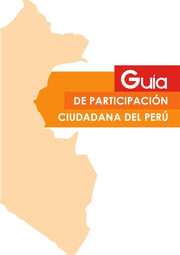 DE PARTICIPACIÓNCIUDADANA DEL PERÚ