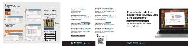 Guía de uso catálogo Bibliotecas Municipales Coruña