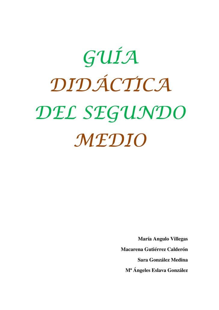 Guía didáctica del segundo medio