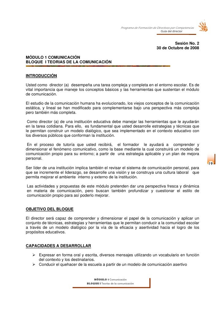 Programa de Formación de Directivos por Competencias                                                                      ...