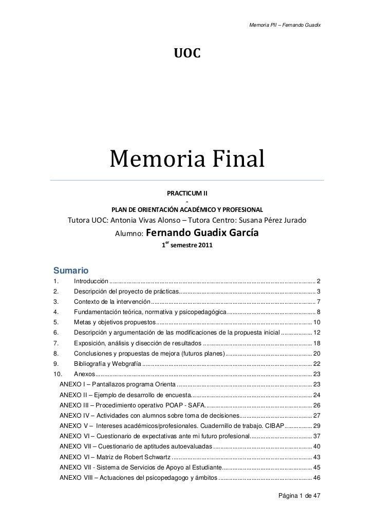 Memoria PII – Fernando Guadix                                                                                             ...