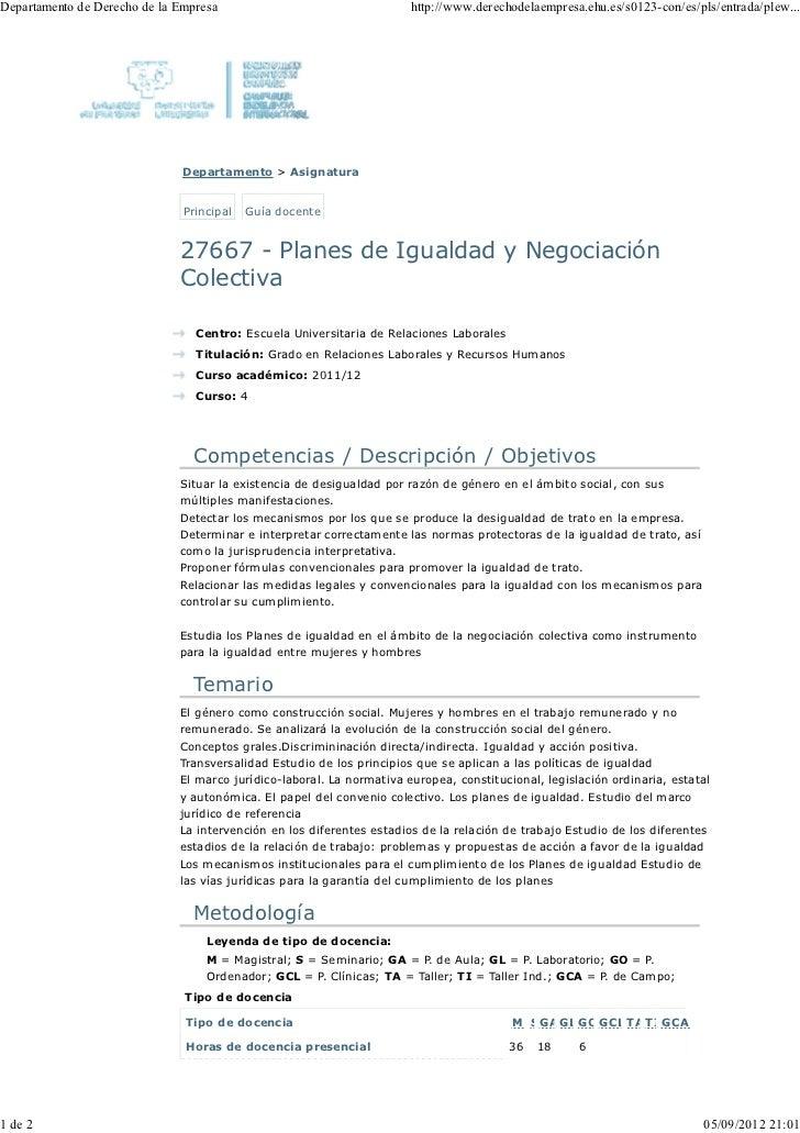 Guía docente....planes de igualdad...2012 2013