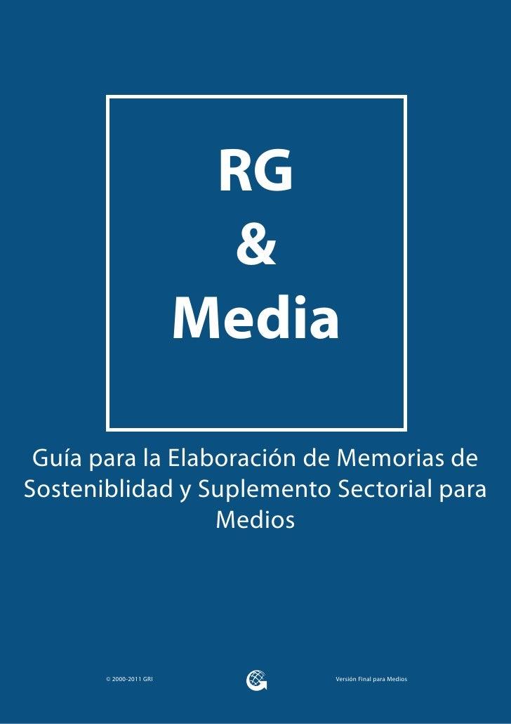 RG                           &                         Media Guía para la Elaboración de Memorias deSosteniblidad y Suplem...