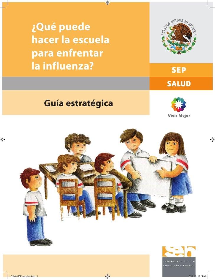 ¿Qué puede hacer la escuela para enfrentar la influenza?     Guía estratégica