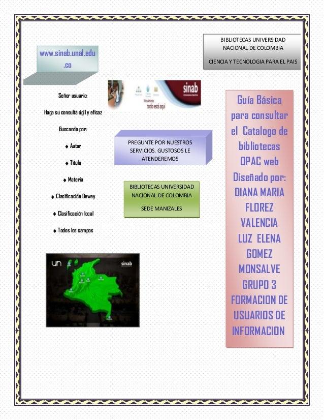 GUIA INSTRUCTIVO MANEJO CATALOGO BIBLIOTECA