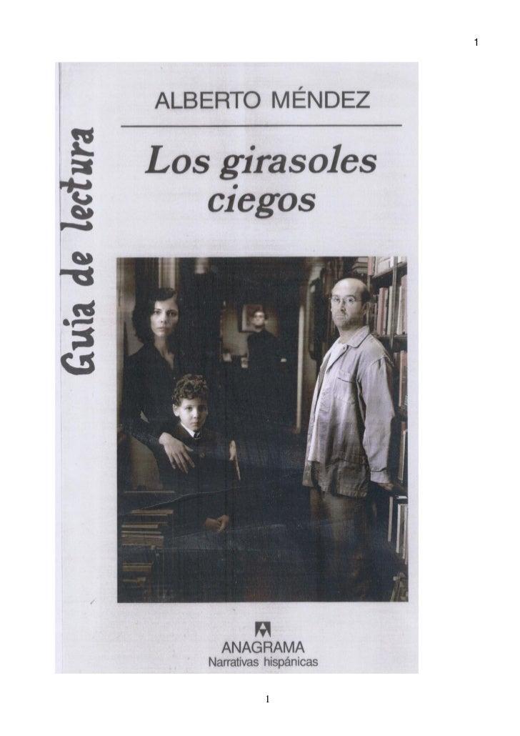"""Guía lectura """"Los girasoles ciegos"""" (Club de lectura do IES de Pastoriza curso 2008-2009)"""