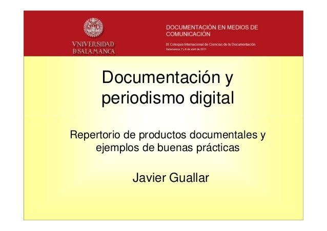 Javier Guallar. Documentación y periodismo digital
