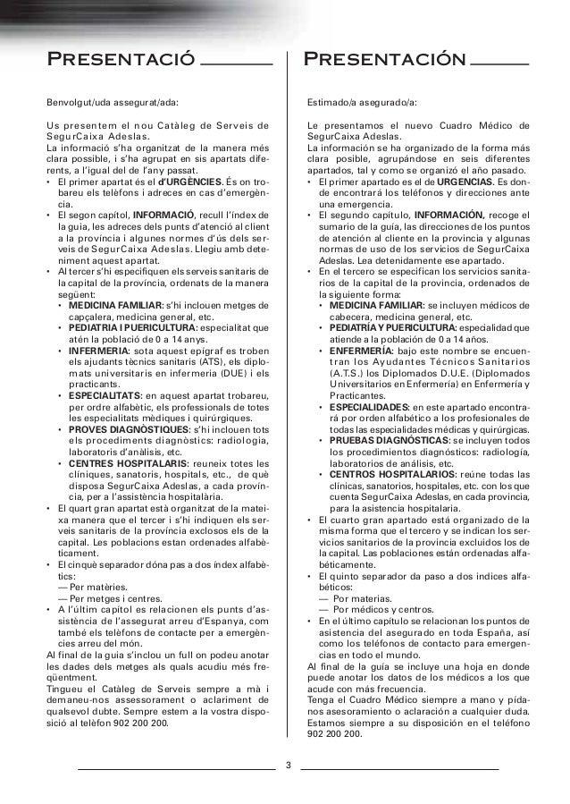 Gu a m dica adeslas barcelona 2013 for Oficinas de adeslas en barcelona