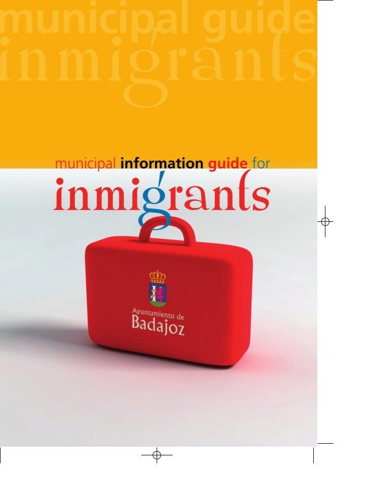 Municipal Information Guide for inmigrants (Badajoz, Spain)