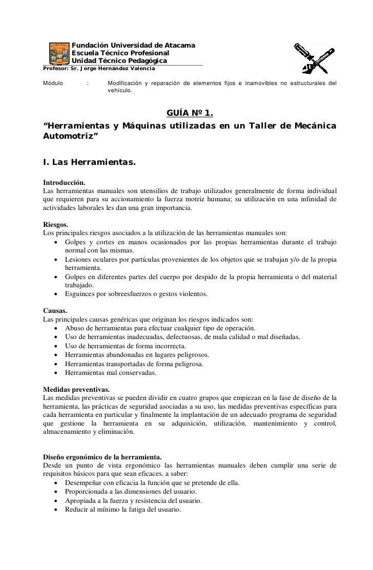 Fundación Universidad de Atacama         Escuela Técnico Profesional         Unidad Técnico PedagógicaProfesor: Sr. Jorge ...