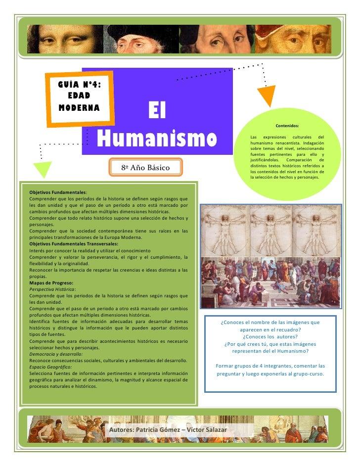 Guía n° 4 el humanismo