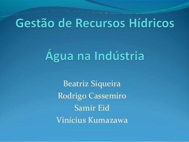 Beatriz Siqueira Rodrigo Cassemiro Samir Eid Vinícius Kumazawa