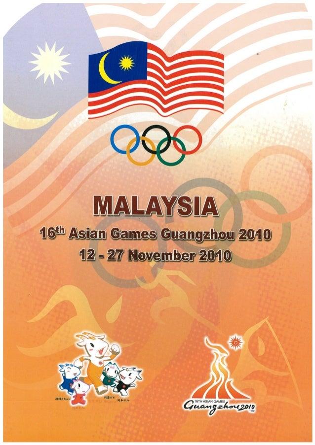 Guangzhou 2010 Asian Games - Team Malaysia