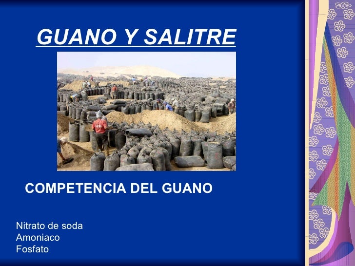 Guano y salitre
