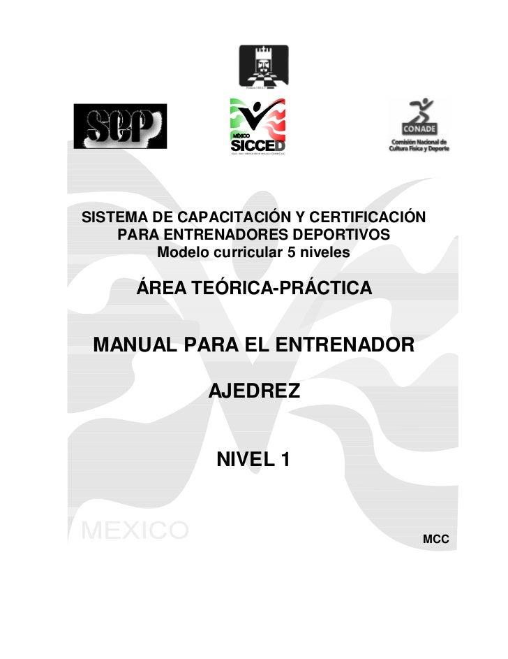 SISTEMA DE CAPACITACIÓN Y CERTIFICACIÓN     PARA ENTRENADORES DEPORTIVOS         Modelo curricular 5 niveles        ÁREA T...