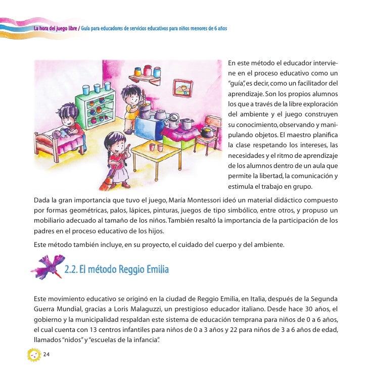 Gu a para educadores para ni os menores de 6 a os for Actividades recreativas en el salon de clases