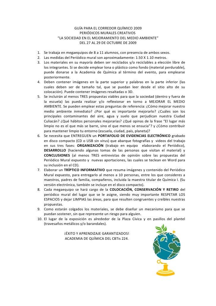 Guía para el Corredor Químico 2009