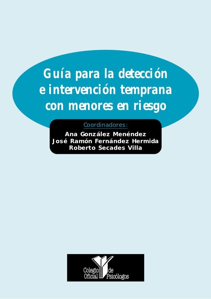 Guía para la detección e intervención temprana con menores en riesgo