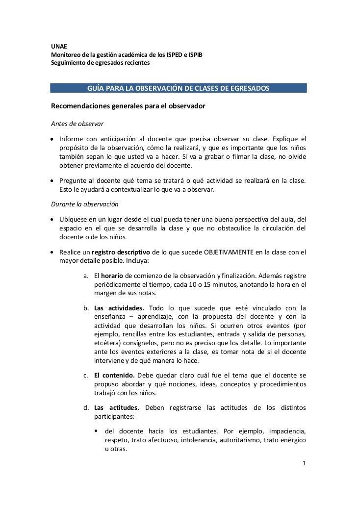 Modelo De Informe De Observacion De La Institucion View Image