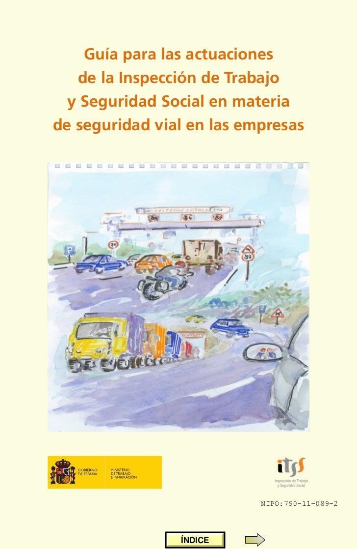 Guía para las actuaciones   de la Inspección de Trabajo  y Seguridad Social en materia                               Nde s...
