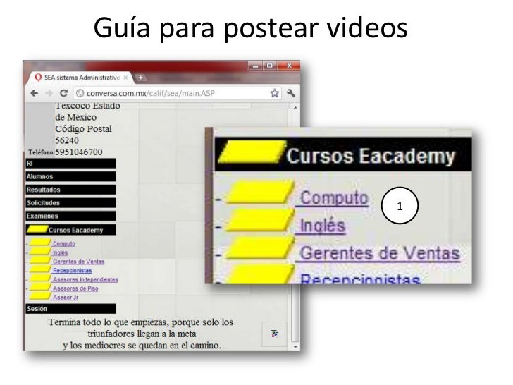 Guía para postear videos                       1