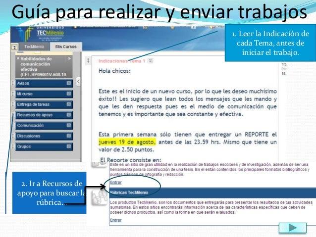 Guía para realizar y enviar trabajos Blackboard Tecmilenio