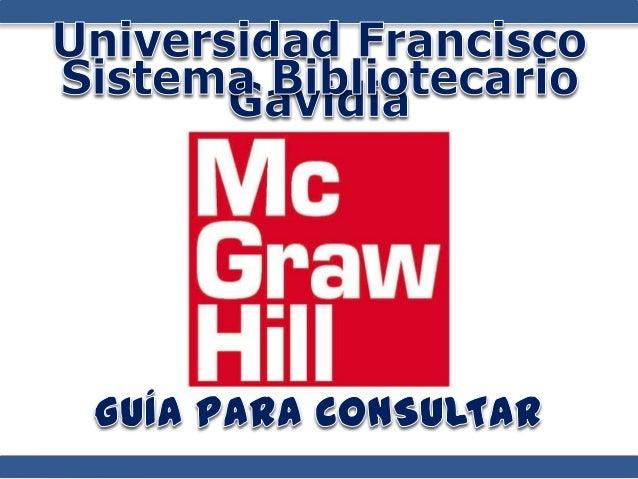 Guía para utilizar la Biblioteca Virtual McGraw Hill