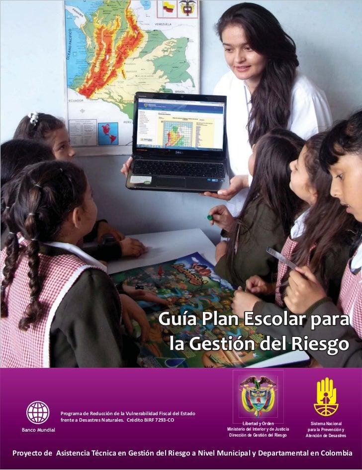 Guía plan escolar gestión de riesgos final