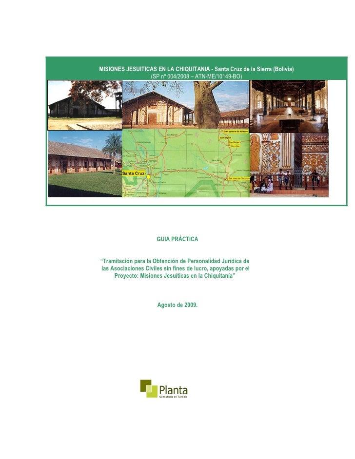 Guía práctica para obtención de personería jurídica(planta) (C1)