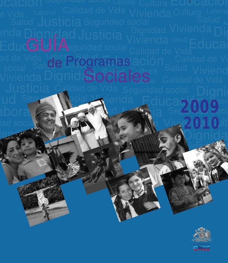 Guía programas sociales 2009 2010