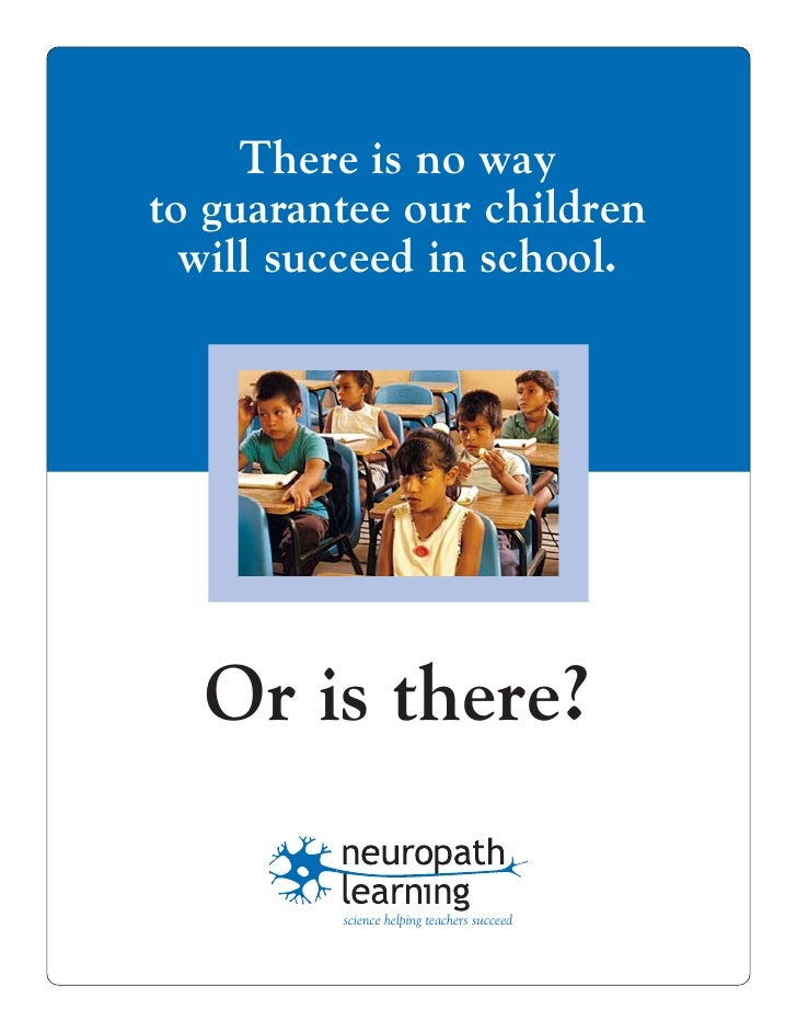 There is no way to guarantee our children   will succeed in school.       Or is there?           science helping teachers ...