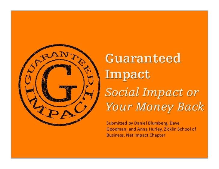 Submi&ed by Daniel Blumberg, Dave Goodman, and Anna Hurley, Zicklin School of Business, Net Im...