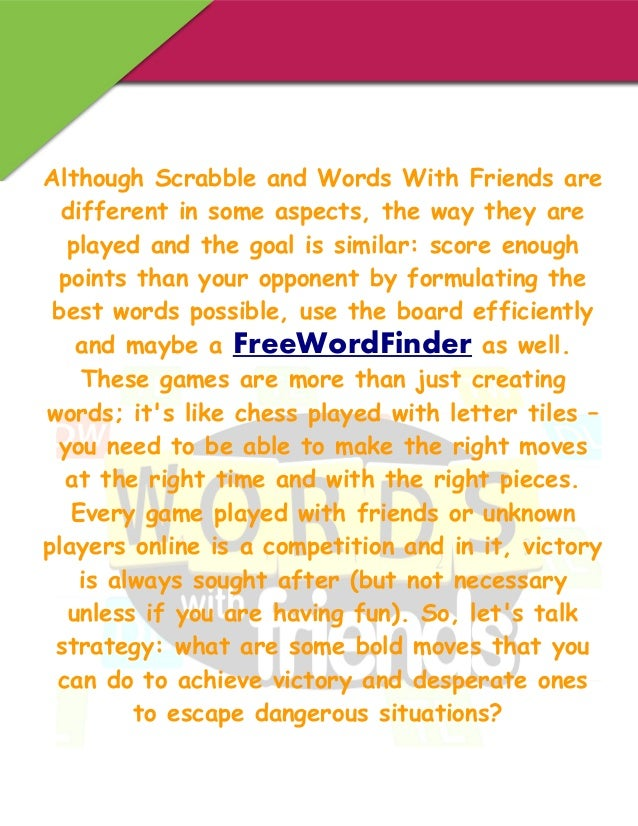 how to play scrabble words with friends