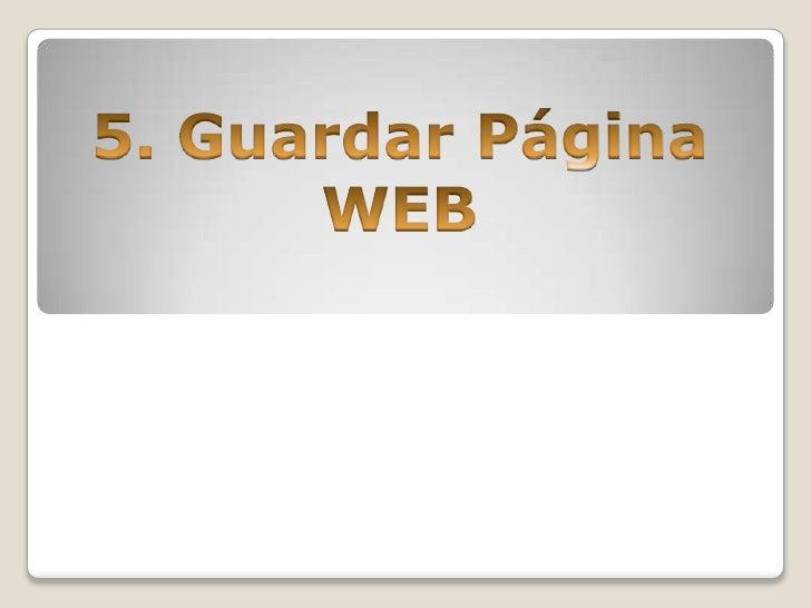 Guardar página web.