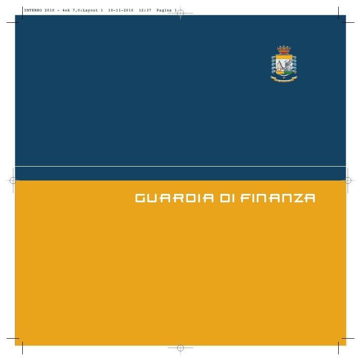 Guardia finanza rapporto annuale 2010 relazione
