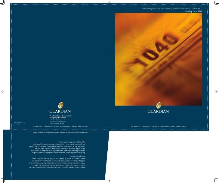 InDesign: Pocket-folder and brochure for Guardian Life Insurance