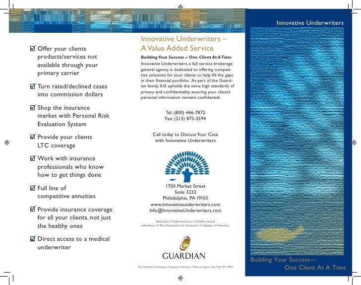 InDesign: Flyer for Innovative Underwriters