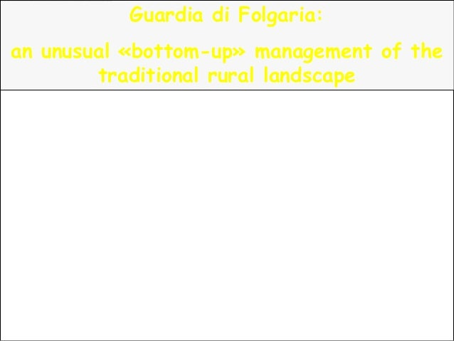 Guardia di Folgaria:an unusual «bottom-up» management of thetraditional rural landscape