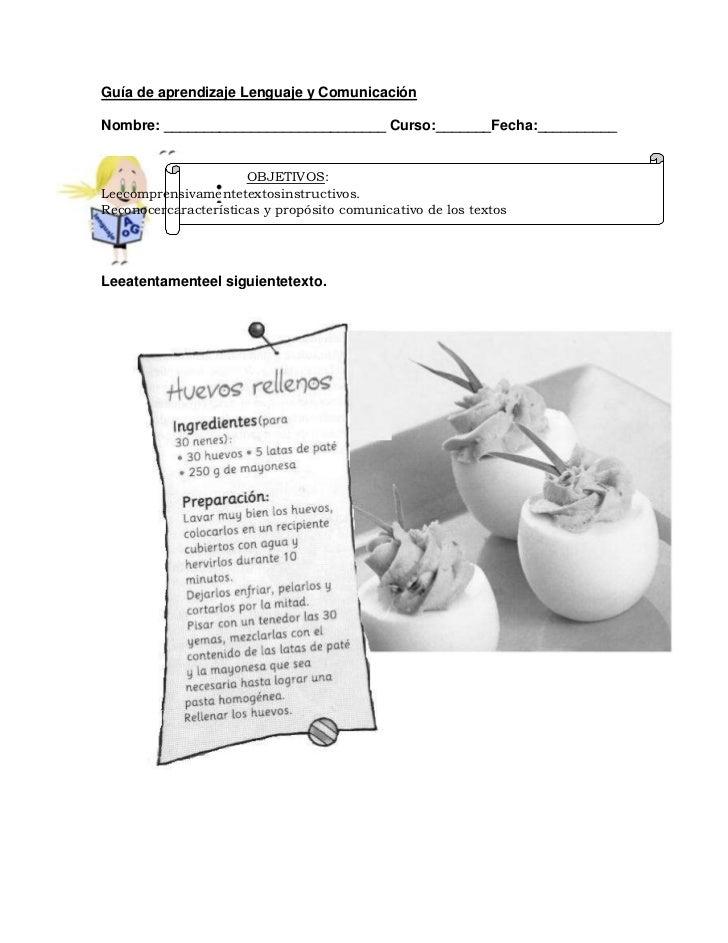 Gu a receta for Guia mecanica de cocina pdf